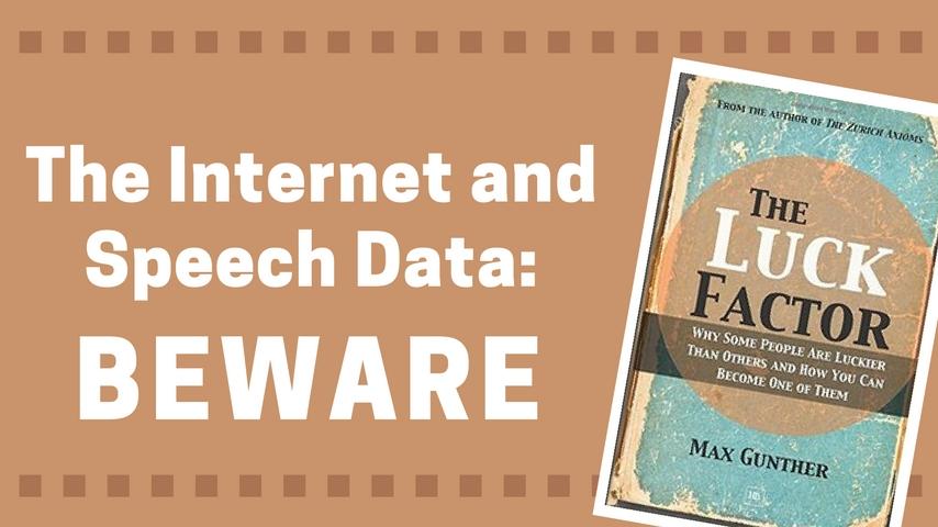 The Internet U0026 Speech Data
