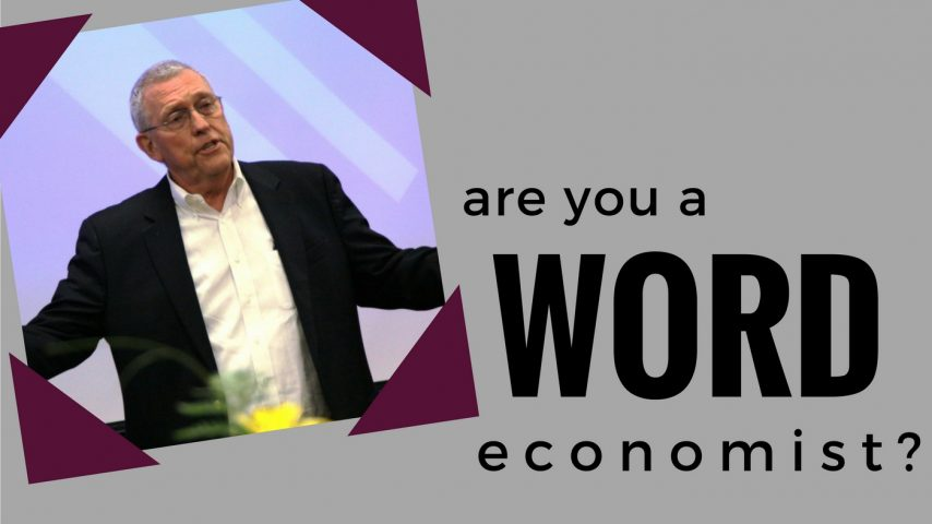 Are you a word economist?